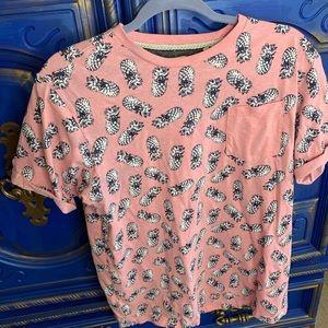 Free Planet T Shirt Pink Pineapple Men's Large